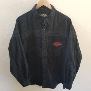 Harley Davidson Button Down Long Sleeve Size Large